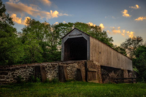 Schofield Ford Covered Bridge in Bucks County, PA
